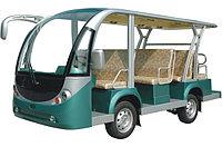 Электроавтобус открытого типа 11-ти местный зеленого цвета EG6118KA
