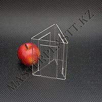 Менюхолдер трехсторонний А5, вертикальный. Тейбл-тент, подставка под меню, холдер из акрила