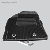 "Коврики в салон для Citroen Jumper фургон 2009-н.в., 2 шт., текстиль ""Robust-Lux"", черный"