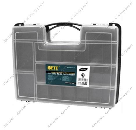 (65646) Ящик для крепежа (органайзер) 2-х сторонний(29,5 x 22 x 7,6 см)