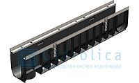 DN100 Лоток водоотводный Gidrolica Super ЛВ -10.14,5.20,5 - пластиковый, кл.Е600