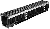 DN100 Лоток водоотводный Gidrolica Super ЛВ -10.14,5.15,5 - пластиковый, кл. Е600, фото 1