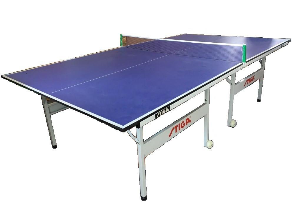 Большой теннисный стол Stiga (синий) +сетка доставка и установка
