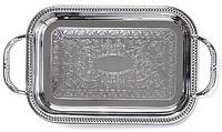 9418 FISSMAN Поднос металлический прямоугольный 41x31 см хромированный