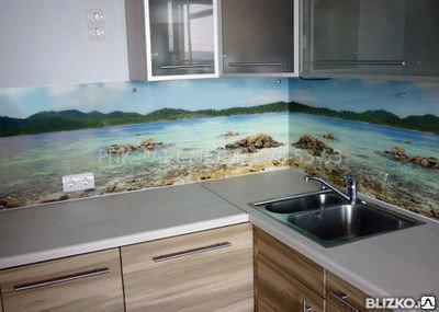 Изделия из закаленного стекла Кухонные фартуки, фото 2