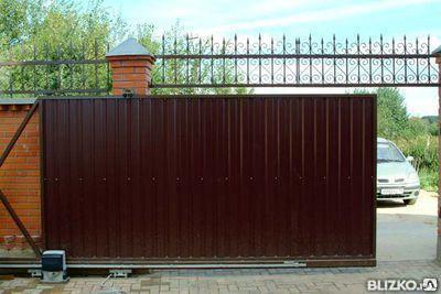 Ворота раздвижные с автоматическим приводом, фото 2