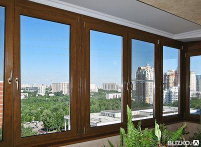 Окна пластиковые ламинированные 5-ти камерный профиль ФАВОРИТ Deceuninck, фото 2