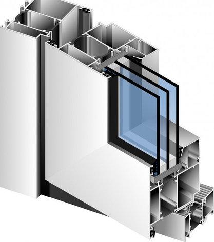 Алюминиевый балкон купе теплый профиль, фото 2