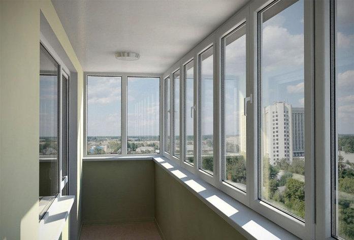 Балконы ПВХ трехкамерный экологичный профиль под ключ, фото 2