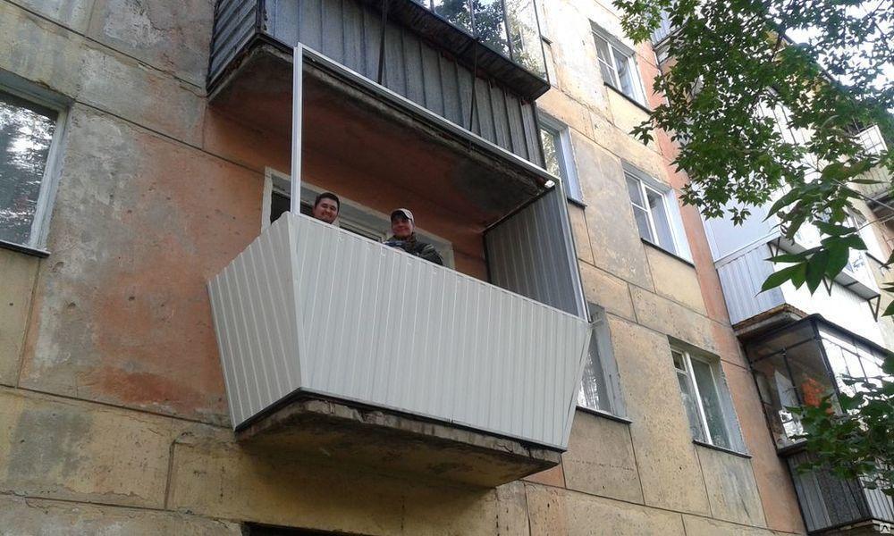 Установка балконов