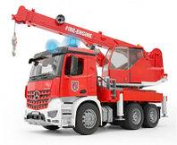 Брудер пожарный автокран Bruder  MB Arocs с модулем со световыми и звуковыми эффектами