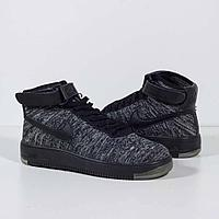 Кроссовки Nike Air Force 1 Flyknit Mid Black, фото 1