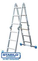Универсальная шарнирная лестница с перекладинами 4х3 пер. KRAUSE STABILO