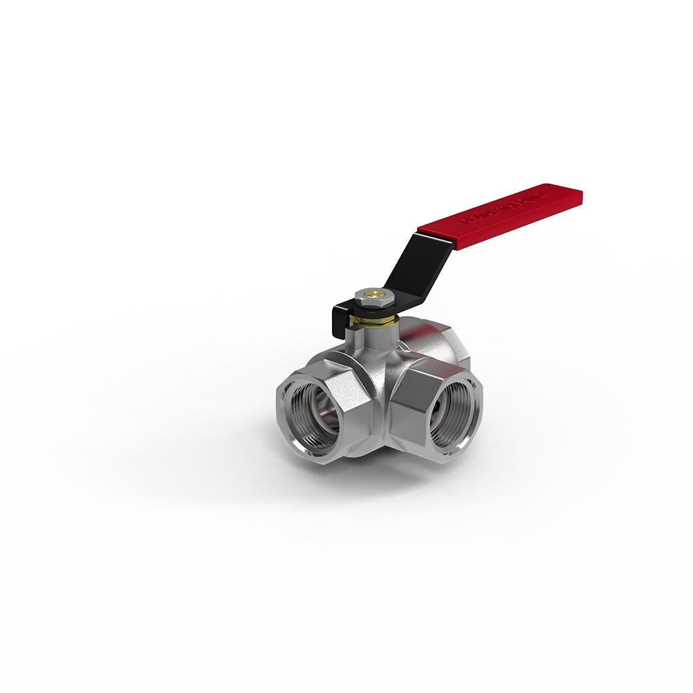 "Кран шаровый Royal Thermo OPTIMAL трехходовой тип L 3/4"""