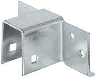 Соединитель каркаса кровати, 19 мм, сталь, оцинкованная поверхность, фото 1