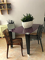 Стеклянный обеденный стол и 6 стульев набор