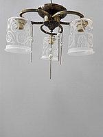 Красивая потолочная люстра с прозрачными плафонами, фото 1