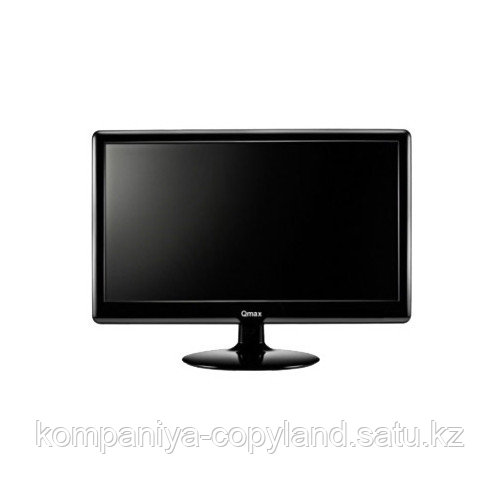 "18.5"" Qmax M985B, Black, 1366x768 LED, 5ms, 16:9, 300 cd/m2,  90°/65°, 1000:1, D-Sub, б/п внешний, VESA 75 x 7"