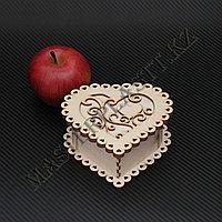 "Подарочная коробка - ""Сердце"" из дерева"