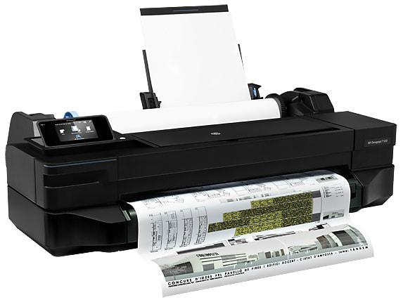 HP Плоттер DesignJet T120 24-in 2018 ed. Printer (A1/610 mm)(принтер)