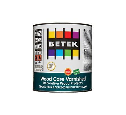 BETEK WOOD CARE VARNISHED   Деревозащитное декоративное цветное матовое 2,5л