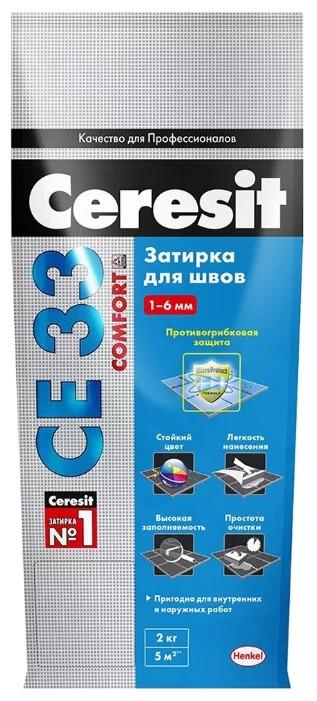 Ceresit CE 33 Comfort затирка для узких швов до 6 мм, цвет: Серый (Grey), 5 кг