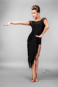 Изысканное черное платье для танцев ПЛ-751