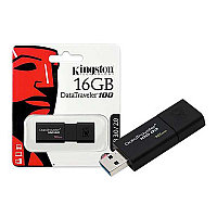 Флешка 16GB USB3.0 Kingston чёрная (DT100G3/16GB)