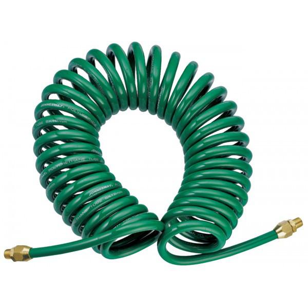 Шланг полиуретановый спиральный для пневматического инструмента 5х8 мм, 8 м (JAZ-7214E)