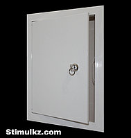 Люк-дверца ревизионная металлическая с замком 700х700, фото 1