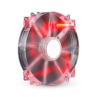 Кулер, Cooler Master, MegaFlow 200 Red LED (R4-LUS-07AR-GP), Габариты: , Прозрачный