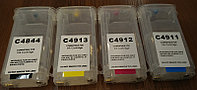 HP ДЗК c4844/4911/4912/4913(without ink) XXL130ml for HP500/800 permanent chips (не показывает уровень)
