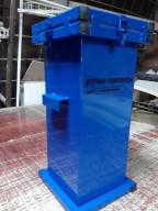 Герметичный контейнер для сбора, транспортировки на утилизацию ртутных люминесцентных ламп