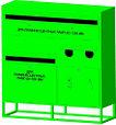 Контейнер для сбора, накопления и хранения отработанных энергосберегающих ламп,ртутных термометров, линейных л, фото 2