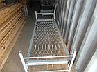 Кровать металлическая двухярусная для строителей и общежитий, фото 3