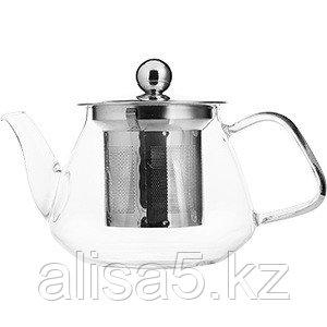 Чайник заварочный PROHOTEL 400 мл термостойкое стекло, диаметр 7 см шт.
