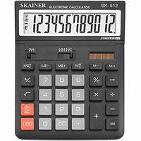 """Калькулятор настольный SKAINER """"512M"""" 12 разрядный черный"""