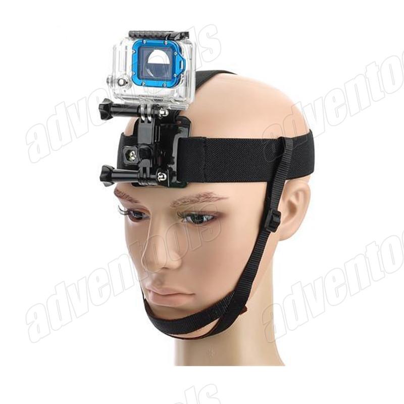 Крепление на голову Head Strap с фиксатором на подбородок для GoPro