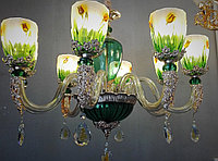 Цепочная люстра с цветочным узором, фото 1