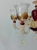 Подвесная стеклянная люстра