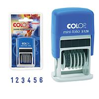 "Мини-датер COLOP ""S120/WD"" (12 бухгалтерских терминов), 3,8 мм"