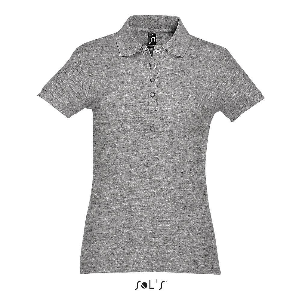 Рубашка Поло женская | Sols Passion L Серый.