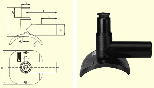 Электросварные фитигни DAA (Kit) d110/40, фото 2