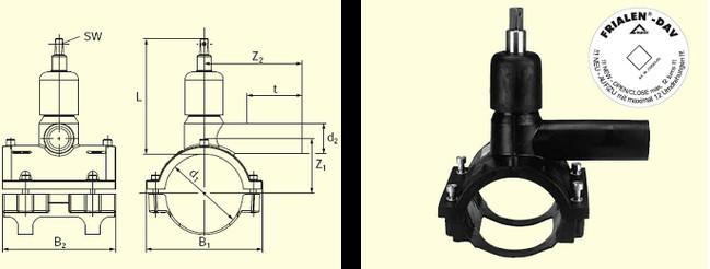 Электросварные фитигни DAV d50/32, фото 2