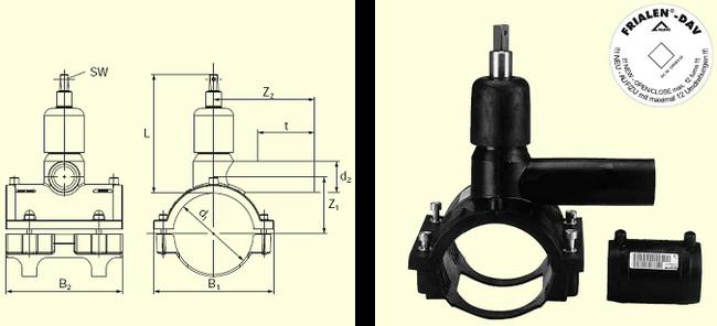 Электросварные фитигни DAV(Kit) d110/40, фото 2