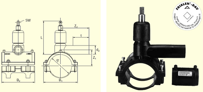 Электросварные фитигни DAV(Kit) d160/32