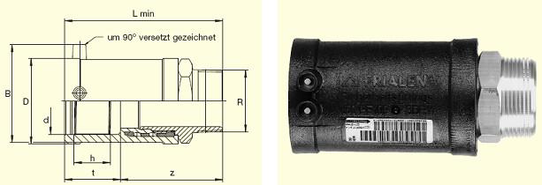 """Электросварные фитигни MUN d63x2"""", фото 2"""