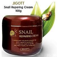 Jigott - Восстанавливающий крем для лица на основе Улитки