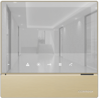 "Видеонаблюдение COMMAX -  CDV-70H2(AM) (GOLD) Дизайн ""MIRROR TYPE"""