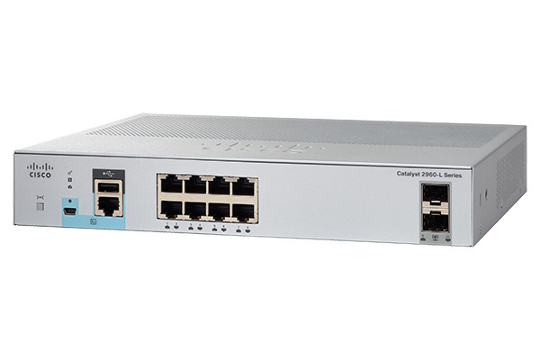 Коммутатор Cisco Catalyst, 8 x GE (PoE), 2 x 1G SFP, LAN Lite WS-C2960L-8PS-LL